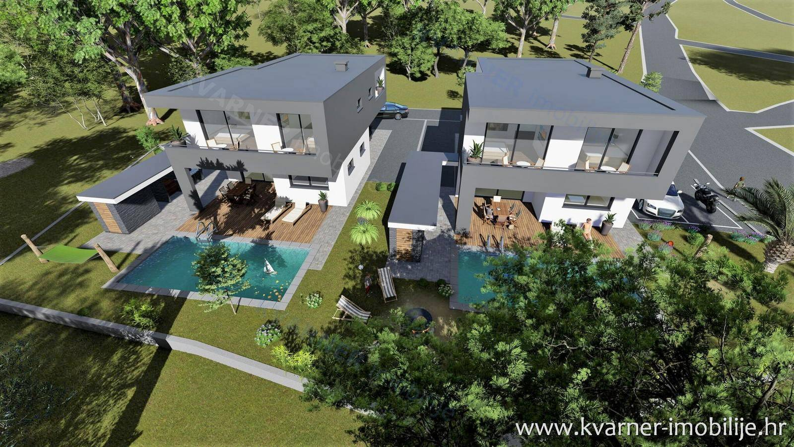 UNIQUE PROJECT ON THE ISLAND OF KRK!! EXCLUSIVE VILLAS WITH PANORAMIC VIEW TO THE SEA!