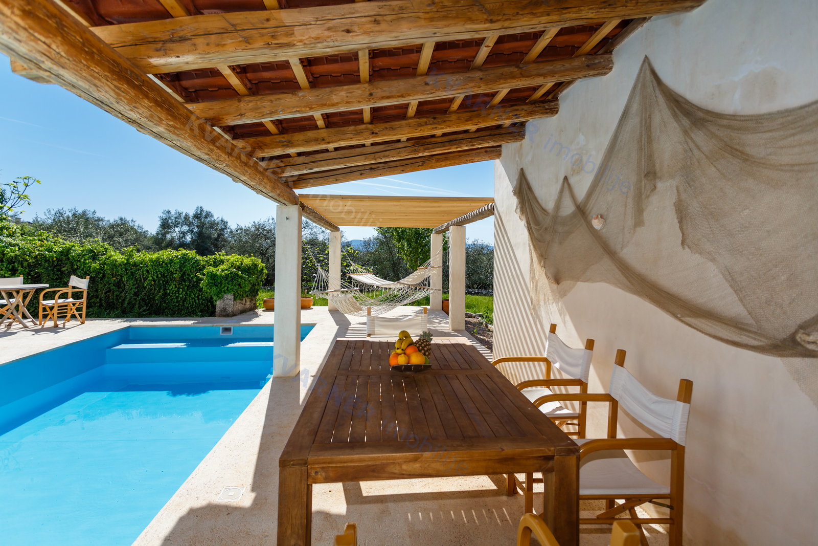 Malinska - Unique stone villa with a view and a pool!