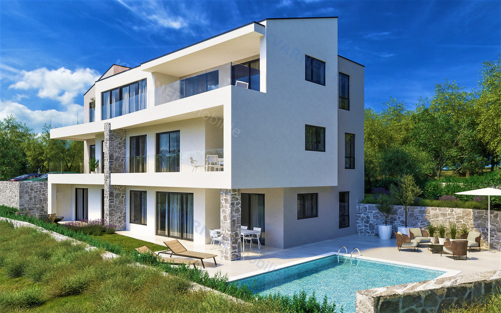 TOP OFFER! Modern apartment - ground floor with pool - 30 m from the beach!