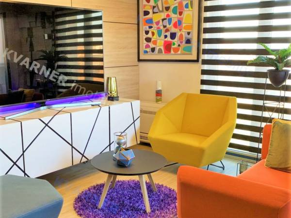 Malinska, luxuriously furnished apartment with view, sale | Kvarner Imobilije