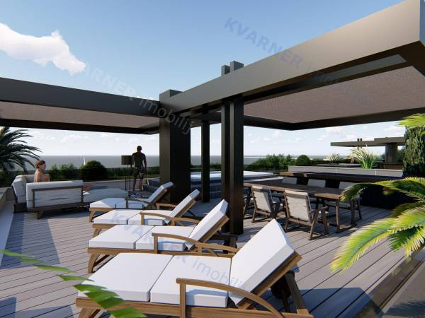 Penthouse with terrace and panoramic sea view! | Kvarner imobilije