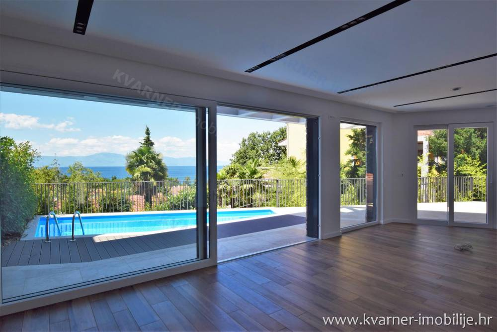MALINSKA - NEW DESIGNED VILLA WITH POOL, GARAGE AND BEAUTIFUL VIEW, ON EXCLUSIVE LOCATION!