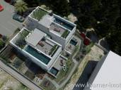 LUXURIOUS NEW BUILDING IN NJIVICE!! Two-storey apartment with swimming pool, sunbathing area, beautiful sea view and two parking places!!